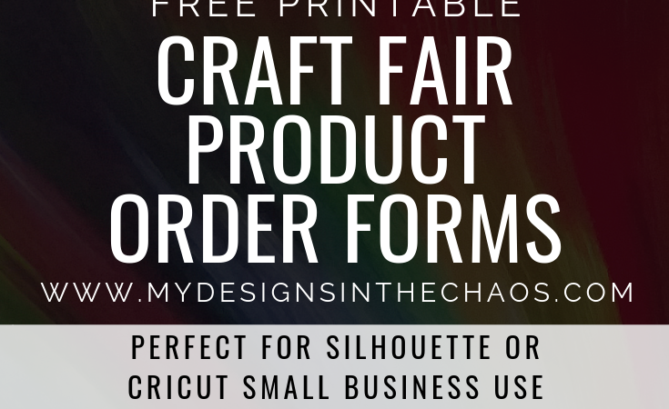 Printable Craft Fair Product Order Form