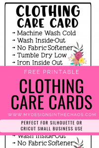picture regarding Printable Htv Cricut called Printable Outfits Treatment Playing cards - My Options Within the Chaos