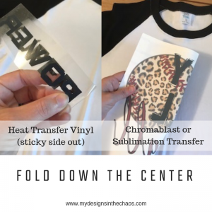 How to Center Heat Transfer Vinyl - My Designs In the Chaos