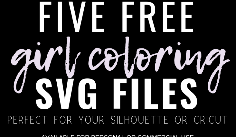 Free Girl Coloring Book SVG Files